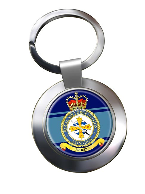 RAF Station Abingdon Chrome Key Ring