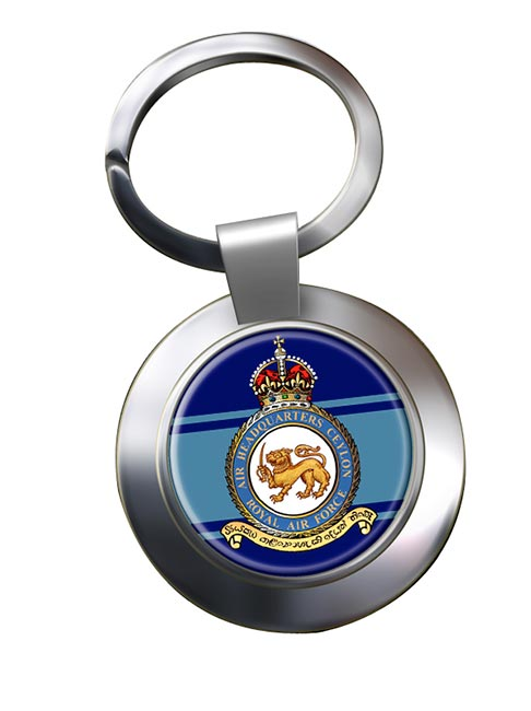 Air Headquarters Ceylon Chrome Key Ring