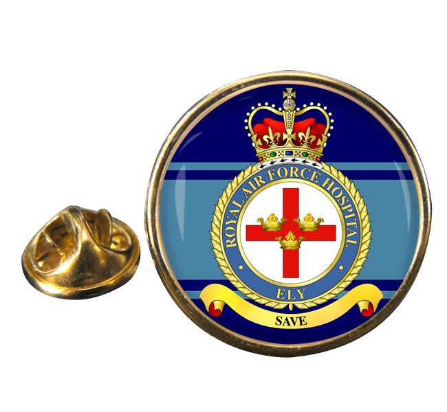 RAF Station Ely Round Pin Badge