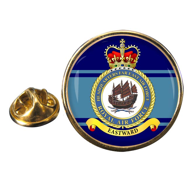 Headquarters Far East Air Force RAF Round Pin Badge