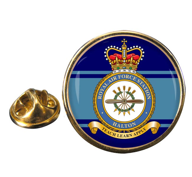 RAF Station Halton Round Pin Badge