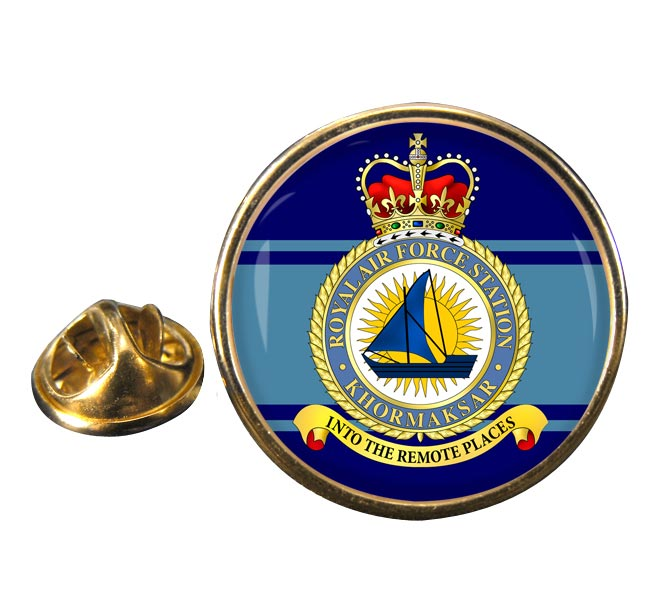 RAF Station Khormaksar Round Pin Badge