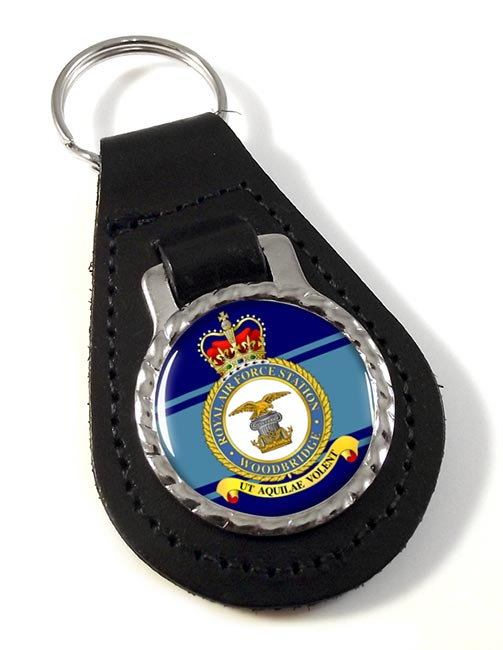 RAF Station Woodbridge Leather Key Fob