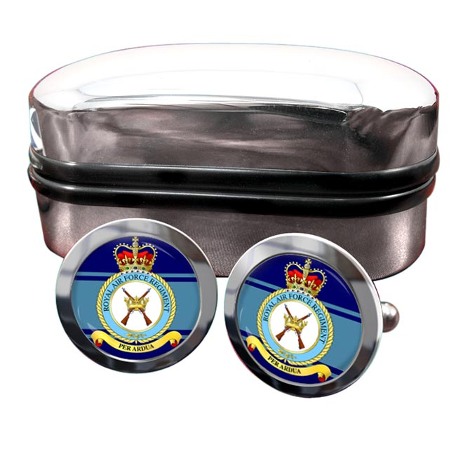 Royal Air Force Regiment Round Cufflinks