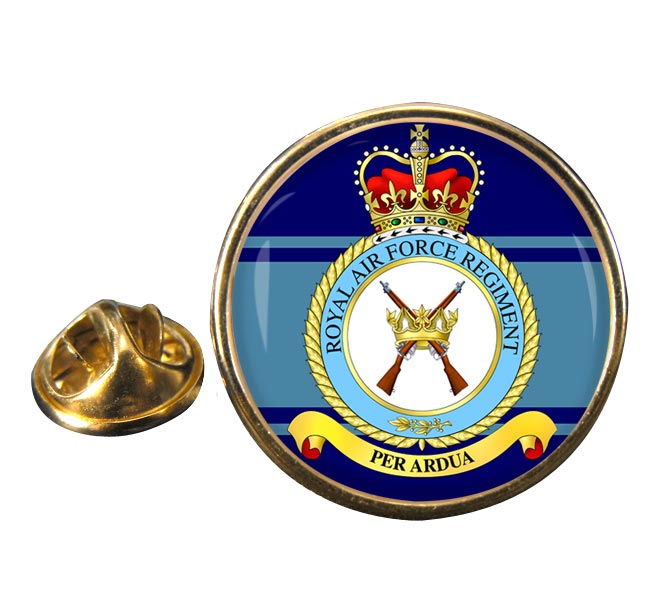 Royal Air Force Regiment Round Pin Badge