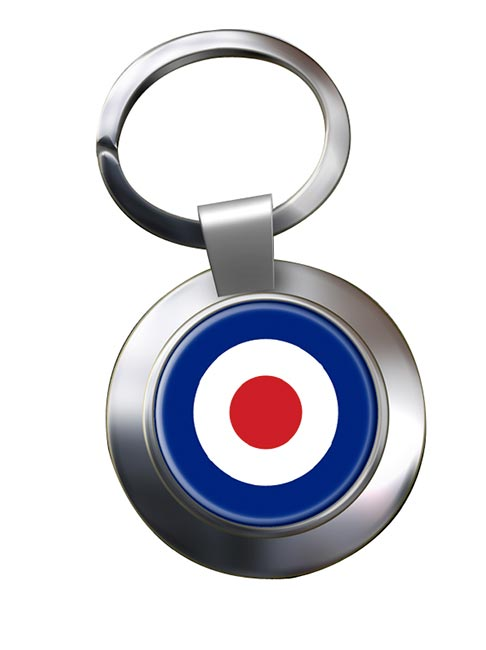 Royal Air Force Roundel Chrome Key Ring