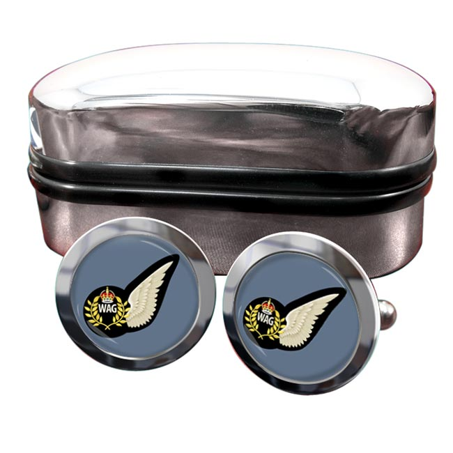 Wireless Operator Air Gunner (Royal Air Force) Round Cufflinks