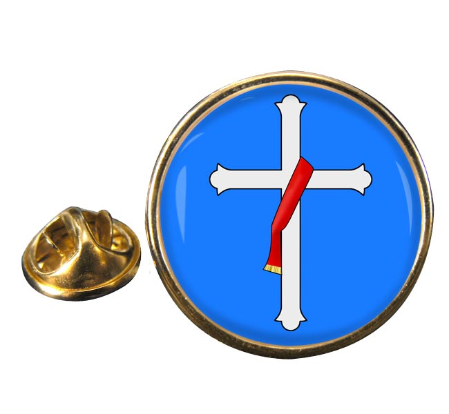 Deacons Cross Round Pin Badge