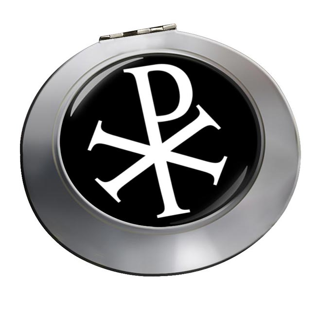 Chi-Rho Chrismon Chrome Mirror
