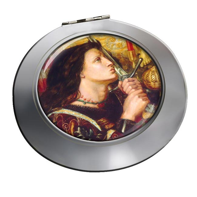 St. Joan of Arc by Rossetti Chrome Mirror
