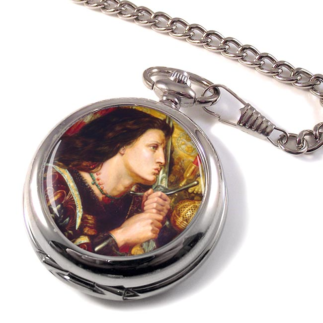 St. Joan of Arc by Rossetti Pocket Watch