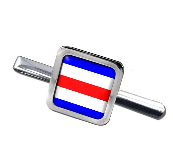 Charlie Affirmative Distress Flag Square Tie Clip
