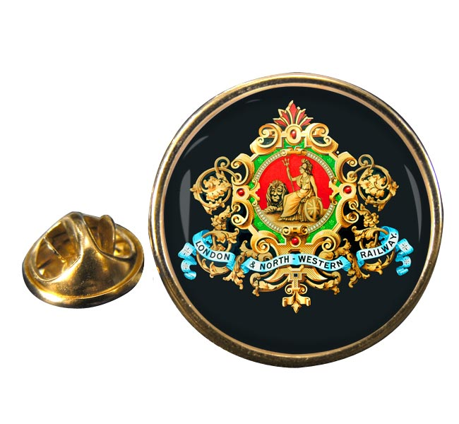 London & North Western Raulway Round Lapel