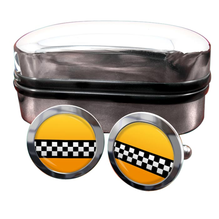 New York Taxi Round Cufflinks