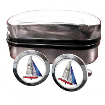 Laser Dinghy Round Cufflinks