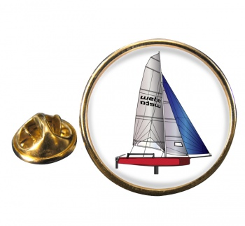 Laser Dinghy Round Pin Badge