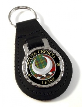 Leask Scottish Clan Leather Key Fob