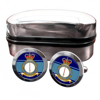 RAF Station Leeming Round Cufflinks