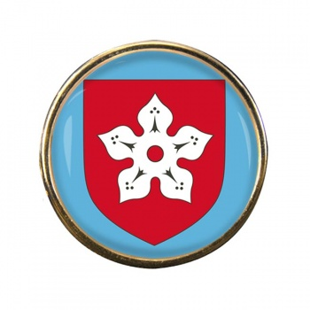 Leicester (England) Round Pin Badge