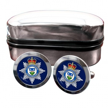 Leicestershire Constabulary Round Cufflinks