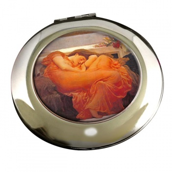 Flaming June by Leighton Round Mirror