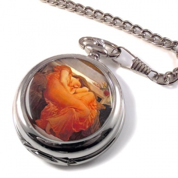 Flaming June by Leighton Pocket Watch