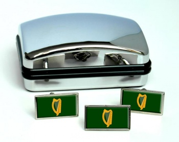 Leinster (Ireland) Flag Cufflink and Tie Pin Set