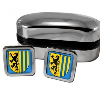 Leipzig Germany Square Cufflinks