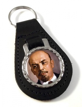 Vladimir Lenin Leather Key Fob