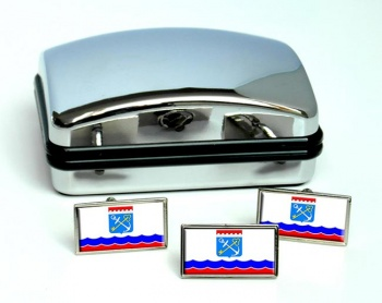 Leningrad Oblast Flag Cufflink and Tie Pin Set