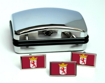 Leon (Spain) Flag Cufflink and Tie Pin Set
