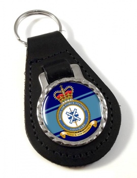 RAF Station Leuchars Leather Key Fob