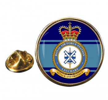 RAF Station Leuchars Round Pin Badge