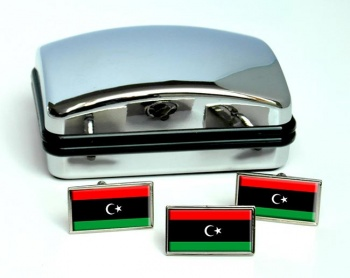 Libya Flag Cufflink and Tie Pin Set