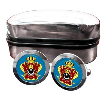 Libya King's Crest Flag Cufflinks