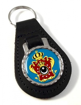 Libya King's Crest Leather Key Fob