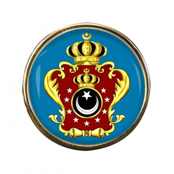 Libya King's Crest Flag Pin Badge