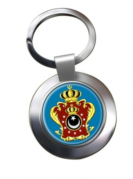 Libya King's Crest Metal Key Ring
