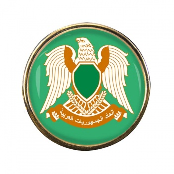 Libya 1977-2011 Round Pin Badge