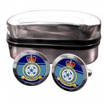RAF Station Lichfield (alternative) Round Cufflinks