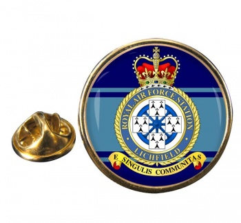RAF Station Lichfield (alternative) Round Pin Badge