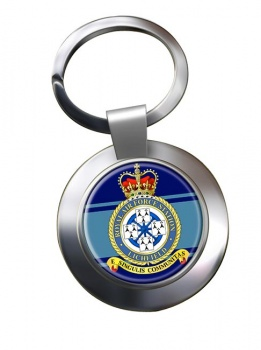 RAF Station Lichfield (alternative) Chrome Key Ring