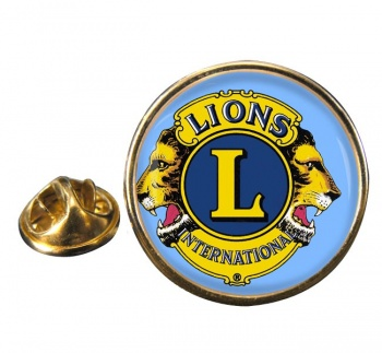 Lions Club International Round Pin Badge