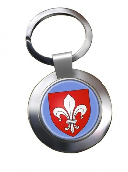 Lille (France) Metal Key Ring
