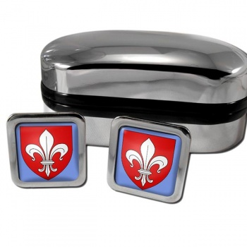 Lille France Square Cufflinks