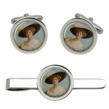 Lillian Russell Cufflink and Tie Clip Set