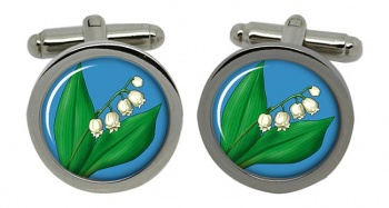 Lily of the Valley Round Cufflinks