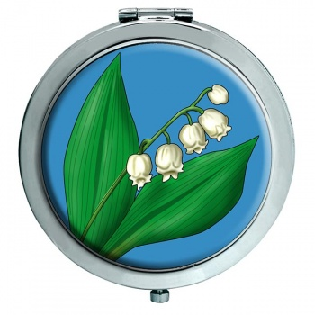 Lily of the Valley Chrome Mirror
