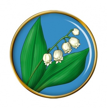 Lily of the Valley Round Pin Badge