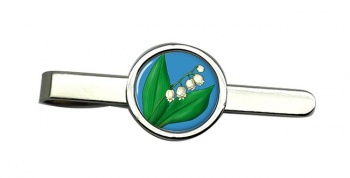 Lily of the Valley Round Tie Clip
